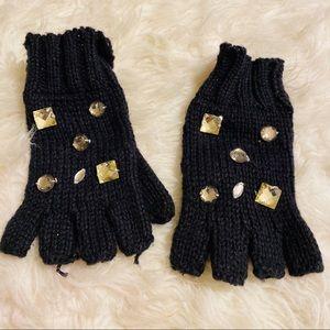 Betsy Johnson Bling Crystal Rhinestone Gloves